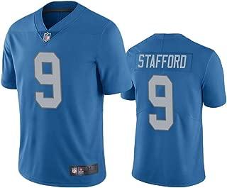 Franklin Sports Men's Detroit Lions #9 Matthew Stafford Blue Vapor Limited Jersey