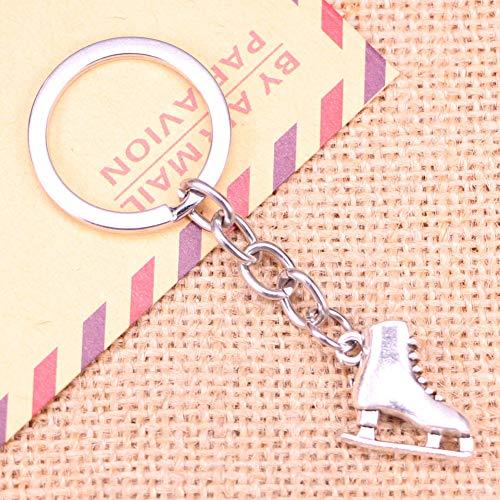 N/ A Fashion Sleutelhanger 21x18x6mm skischoenen Hangers DIY Mannen Sieraden Auto Sleutelhanger Ring Houder Souvenir Voor Gift