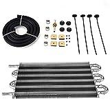 Kit radiatore olio a 6 ranghi Kit radiatore olio trasmissione motore universale Convertitore radiatore automatico in lega di alluminio