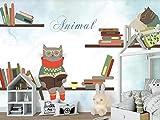 Papel Pintado 3D Tapiz Libro De Gafas De Animalito Tv Fondo Pared Decorativos Papel Tapiz Wallpaper