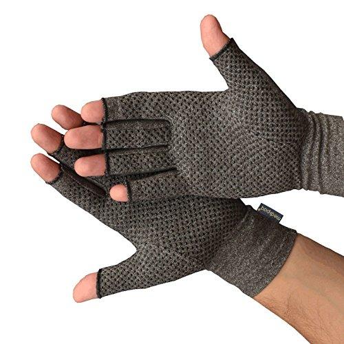 Medipaq Anti-Arthritis-Handschuhe (Paar) – fingerlose Handschuhe für Arthritis liefert Wärme und Kompression