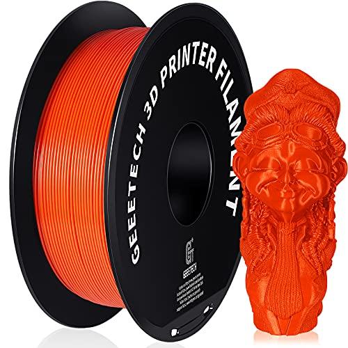 GEEETECH PETG 1,75mm Filament für 3D-Drucker, 1 kg 1 Spool, Orange