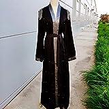 ZCPCS アバヤドバイ着物カーディガントルコ女性ローブMusulmanデ・モードの場合ヒジャーブイスラム教徒のドレスCaftanカフタンイスラム教服Abayas (Color : Black, Size : Medium)