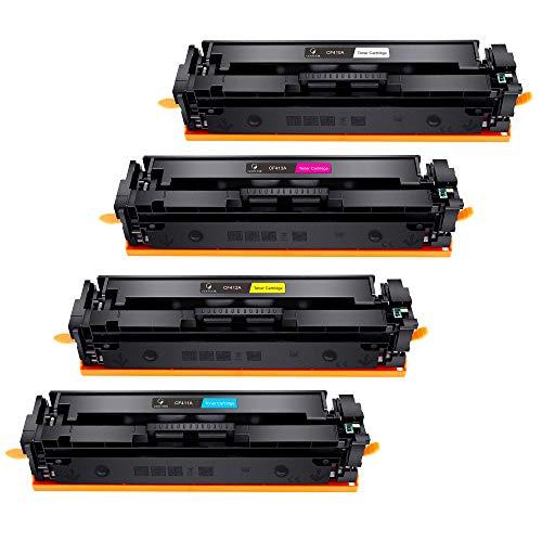 Gootior CF410A Toners Compatibili per HP 410A CF410A 410X CF410X Cartucce Toner per HP Color LaserJet Pro MFP M477fdw M377dw M452dn M452nw M452 M477fdn M477fnw M477dw M477 Stampante (4 Pack)