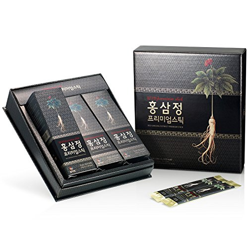 Chamdahan Corea del ginseng rojo Negro premium Stick (12 ml x 30 bolsas)