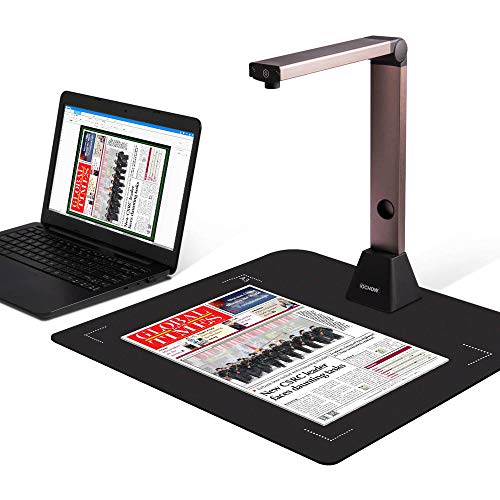 Document Camera iOCHOW S1, High Definition Portable Scanner, Only Support Windows, Capture Size A3, Multi-Language OCR, English Article Recognition for Office and Education Presentation