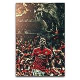 ROTOOY Paul Pogba Manchester United Poster, dekoratives