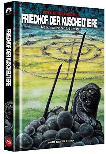 Friedhof der Kuscheltiere - Manchmal ist der Tod besser! - Mediabook - Cover B - Limited Collector's Edition auf 150 Stück - Uncut [Blu-ray]