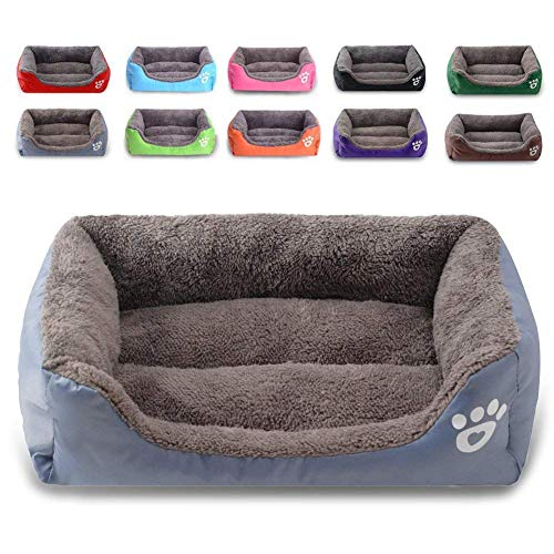 Cama para perro, sofá para mascotas supersuave, cama para gatos, parte inferior antideslizante, tumbona para mascotas, se caldea y transpirable, cama premium para mascotas, de MONIKI