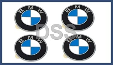 4 X BMW Genuine Emblem - Wheel Center Cap (57 mm Diameter) for 528i 530i 733i 735i 630CSi 633CSi 635CSi 524td 2500 2800 2800Bav 3.0S 3.0SBav 3.0Si 3.0CS
