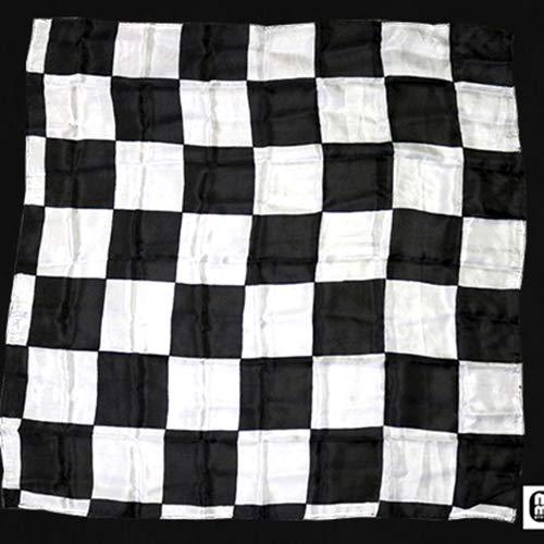 SOLOMAGIA Production Hanky - Tablero de ajedrez (55 x 55 cm), color blanco y negro