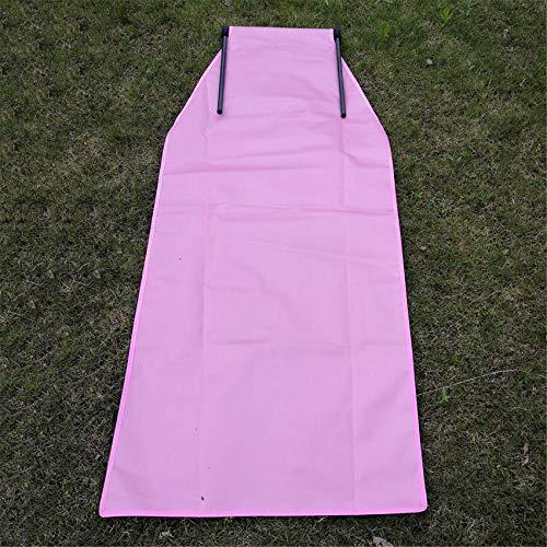 LWANFEI Lässiger Picknick-Klappstuhl, Modestil Yogamatte Reisestuhl Wiederverwendbarer Camping-Stuhl im Freien,Rosa