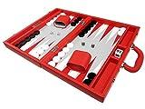 Silverman & Co. Set Backgammon Premium 40 x 53 cm - Rosso