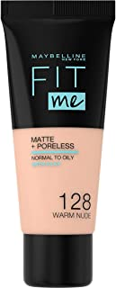 Maybelline New York New York New York Fit Me Matte + Pore less Foundation - 30 ml, Warm Nude 128