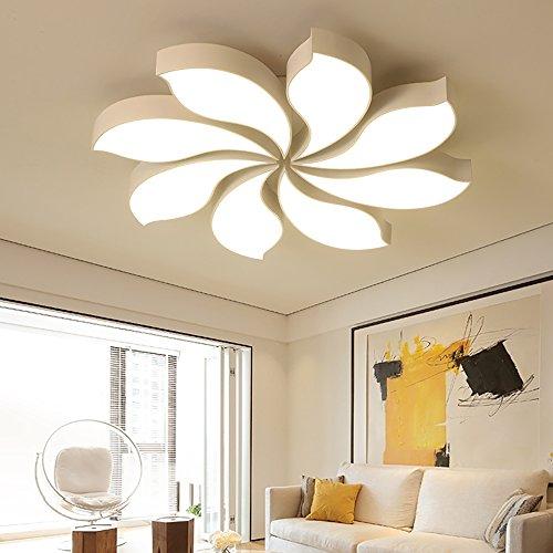 Style Home 80W LED plafondlamp kroonluchter volledig dimbaar met afstandsbediening 80cm groot woonkamer slaapkamer kinderkamer 'White Tornado' PS6903-R80