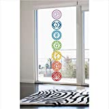 Lovemq 20 * 20 Cm 7 Teile/Satz Chakras Vinyl Wandaufkleber Mandala Yoga Om Meditation Symbol Wandtattoos Wohnkultur Dekoration