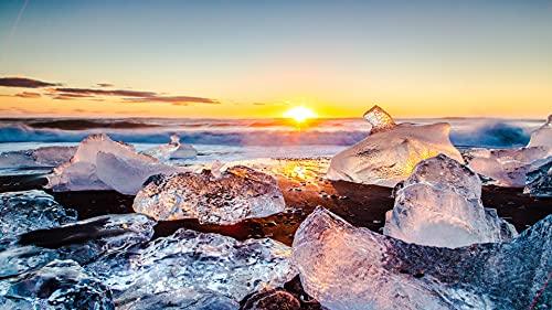 Bdgjln Puzzle 1000 Piezas-Hermosa Vista de Cubitos de hielo-JigsawPuzzlesInfantilesPuzzleAdultos-50x75cm