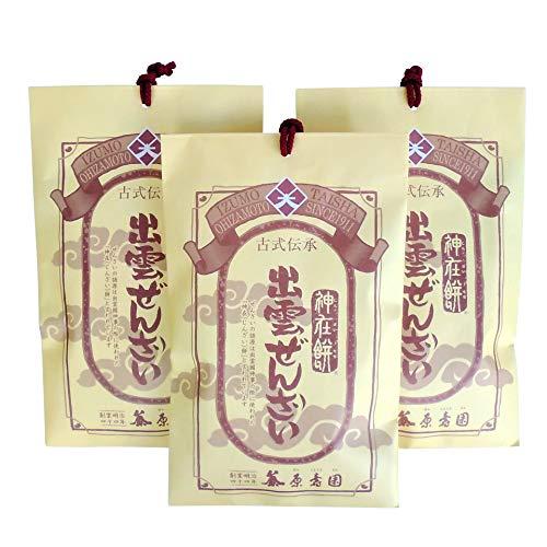 出雲ぜんざい1食分×3袋セット【出雲市・原寿園】紅白の餅入り縁起物