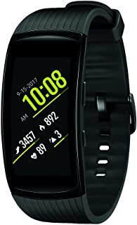 Samsung Gear Fit2 Pro Smartwatch Fitness Band (Large), Liquid Black, SM-R365NZKAXAR – US Version with Warranty
