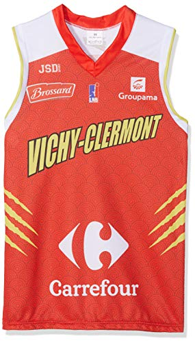 Vichy-Clermont Métropole Basket Vichy-Clermont Maglia Ufficiale Esterno Stagione 2018-2019 Basket Bambino, Bambini, MAILEXTVIC, Rosso, FR : XXS (Taille Fabricant : 10 Ans)