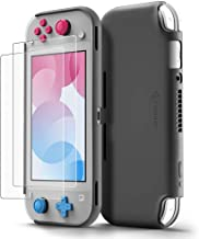 tomtoc Protective Case for Nintendo Switch Lite with [2PCS] Screen Protector, Premium Liquid Silicone Back Cover, Shockpro...