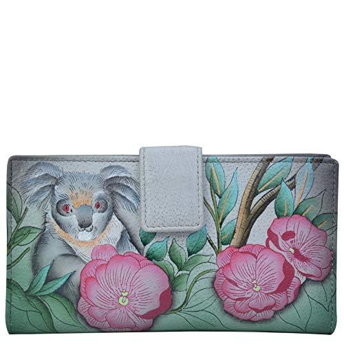 Anna by Anuschka Damen 1833-CDD Reisezubehr- Bi-Fold-Brieftasche, Kuscheliger Koala, Einheitsgröße