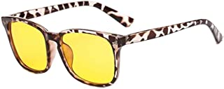 Aiweijia Unisex fashion Anti Glare optical glasses Yellow lens glasses