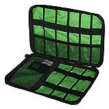 Pixnor Universale Double-Layer Travel Gear Organizer / Elektronikzubehör Tasche / Ladegerät Hülle (schwarz)