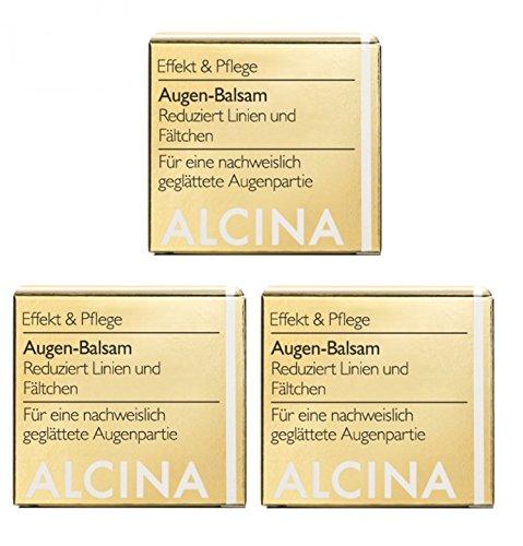 3er E Augen Balsam pflegende Kosmetik Alcina reduziert Linien und Fältchen je 15 ml = 45 ml