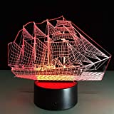 WangZJ 3d Nachtlicht Touch Tisch Schreibtisch Lampen / 7 / Acryl flach & Abs Base & Usb...