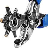 S&R Alicate Perforador Sacabocados Profesional/MADE IN GERMANY/Punzonador con 6 tubos de orificio ovalado: 5,7 x 3,8 mm, 4,6 x 3,0 mm, 6,3 x 3,5 mm