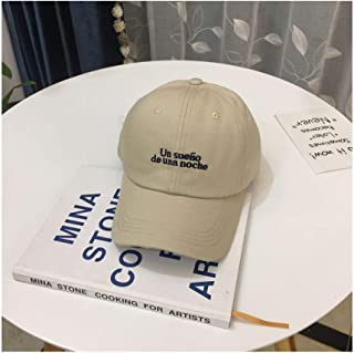 Hats Outdoor Leisure Sports Sun Hat Hat Female Spring and Summer Fashion Alphabet Embroidery Baseball Cap Fashion (Color : Beige, Size : F)