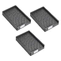 uxcell スクリュートレイ ネジ収納トレイホルダー 帯電防止ネジプレート ESD 1-1.5mm直径ねじに適用 459穴 3個入り