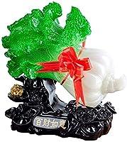彫刻装飾品幸福トウド翡翠Kohl像、樹脂彫刻工芸ラッキーと富Feng Shuiの装飾