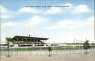 Mile High Kennel Club Track Denver, Colorado Original Vintage Postcard