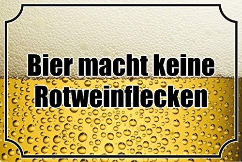 FS Spreuk Bier Macht Keine Rode wijnvlekken metalen bord bordje gebogen Metal Sign 20 x 30 cm