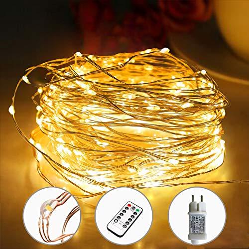 [220 LED] Lichterkette, 25M 8 Modi lichterkette außen strom lichterketten wasserdicht außen/innen...