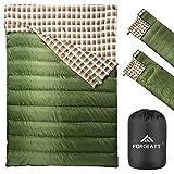 Forceatt Camping Sleeping Bag | Double Sleeping Bag, 3 to 4 Season Adults & Teens 23℉/-5℃ Lightweight Backpacking Water Repellent Warm Sleeping Bag for Outdoor HikingV