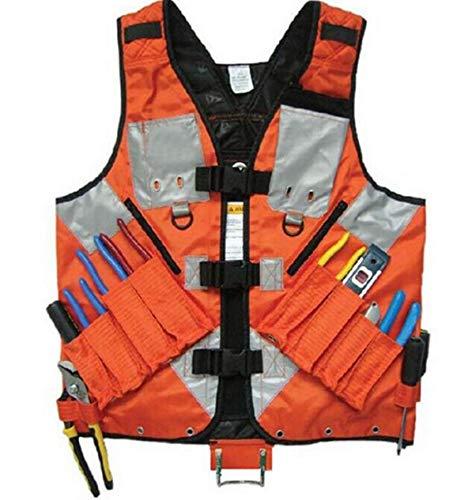 AFANQI General Hardware Tools Vest Electrician Carpenter Plumber Construction Pipe Industrial Hardware Kit Vest Vest (Orange)