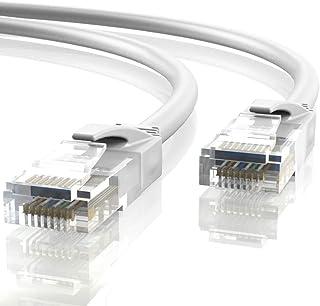 Mr. Tronic 5m Cable de Red Ethernet Latiguillo | CAT5e, AWG24, CCA, UTP, RJ45 | (5 Metros, Blanco)