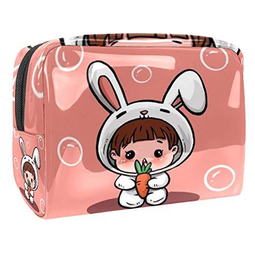 Tragbare Make-up-Tasche mit Reißverschluss, Reise-Kulturbeutel für Frauen, praktische Aufbewahrung, Kosmetiktasche, Baby-Karotte