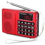 Radio Portable PRUNUS L-258 SW/FM/AM(MW)/SD/TF/USB(0-64 GB) MP3, Large Bouton et Affichage, Enregistre Les Stations manuellement ou en Automatique.