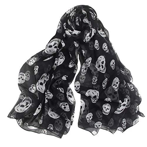 Enfriar Bufandas del cráneo para Las Mujeres Abrigo Grande Chales Playa de la Gasa Larga del Verano Ligera mantón de la Manera Bufandas