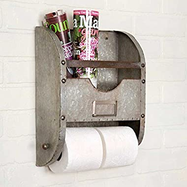 Industrial Nameplate Bathroom Caddy-Galvanized Metal