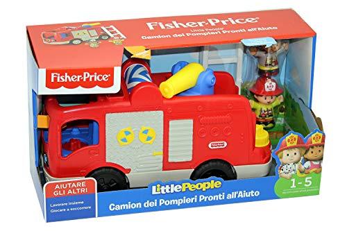 Little People- Camion dei Pompieri Playset Giocattolo per Bambini 1+ Anni, Multicolore, FPV32
