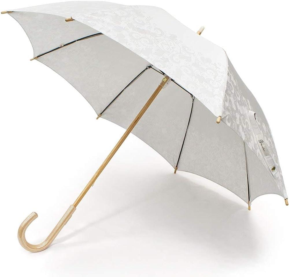 日本製 晴雨兼用 長傘 日傘 親骨50cm 8本骨 手開き