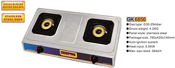 Geepas 2 Burner Gas Cooker (Model GK6856)