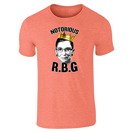 Notorious R.B.G. RBG Supreme Court Political Heather Orange L Graphic Tee T-Shirt for Men