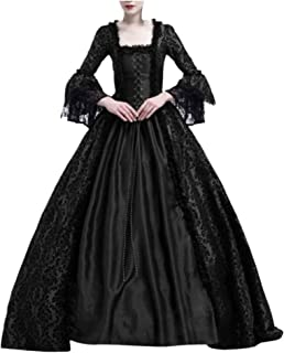 Women Halloween Medieval Victorian Cosplay Costume,Renaissance Gothic Princess Party Dresses