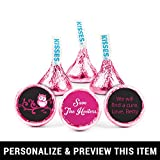 Personalized Breast Cancer Awareness Stickers for Hershey's Kisses Candy (108 Count)